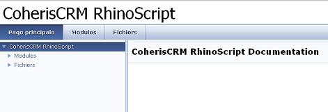 Coheris Documentation Rhinoscript
